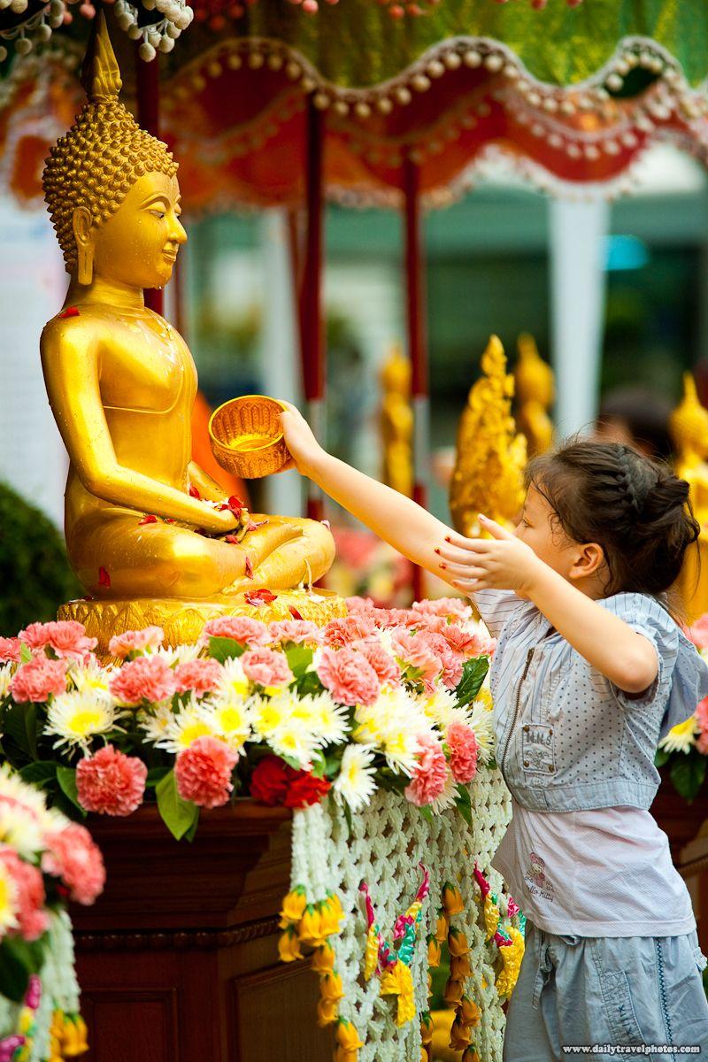 A Girl During the Songkran Festival In Bangkok