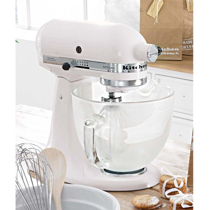 Kitchen Aid in WHITE enjoy cooking Pinterest Kitchens - kitchenaid küchenmaschine artisan rot