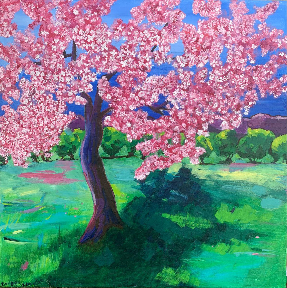 Cherry Blossom Tree Blossom Trees Landscape Paintings Cherry Blossom Tree