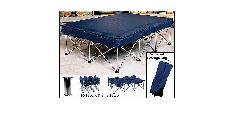 Cabela S Folding Air Bed Frame With Queen Air Bed And Pumpat