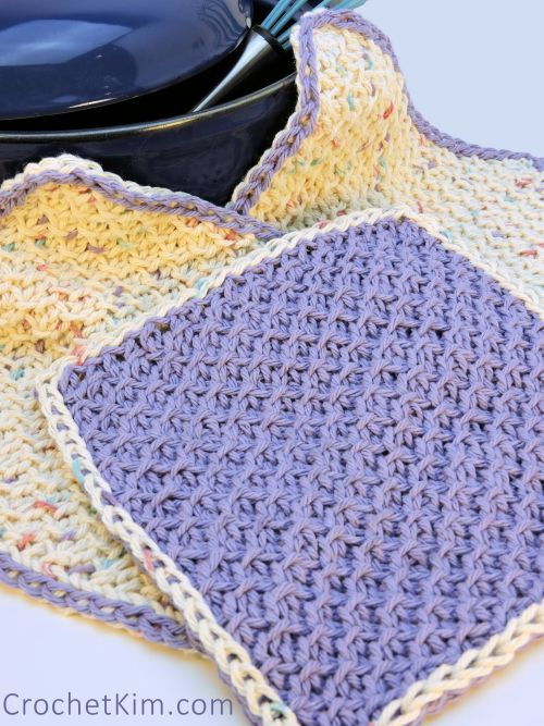 15 Free Patterns for Crochet Dishcloths/Washcloths | Tunesisch ...