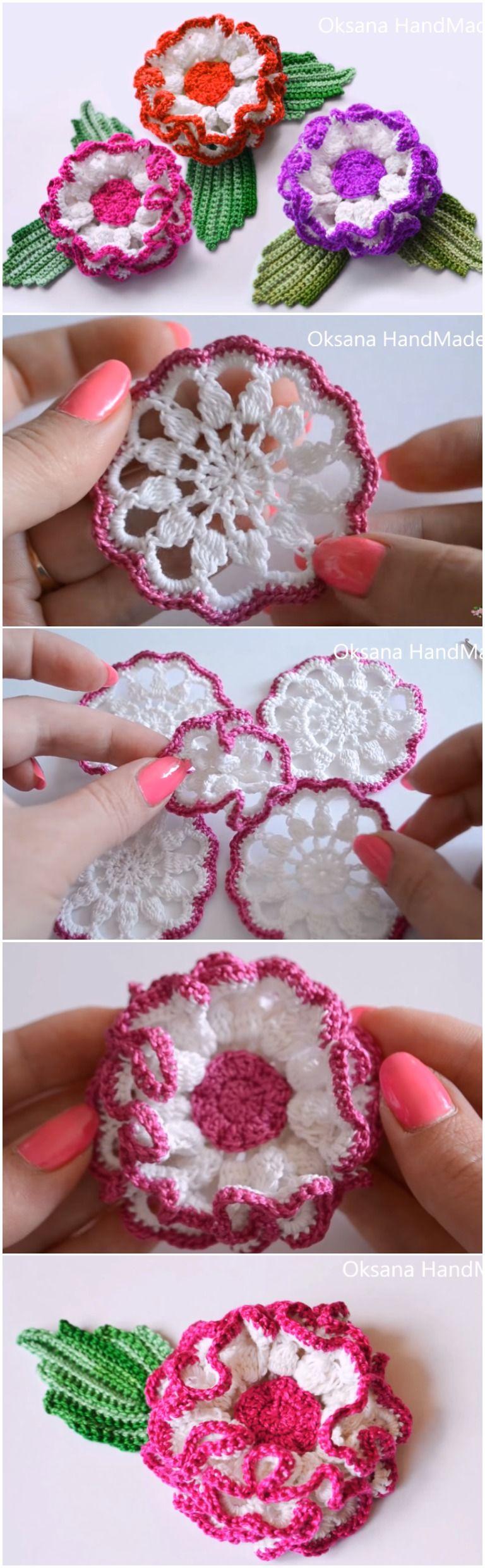 Crochet Daisy Flower Step By Step Crochet Daisy Crochet And Flower
