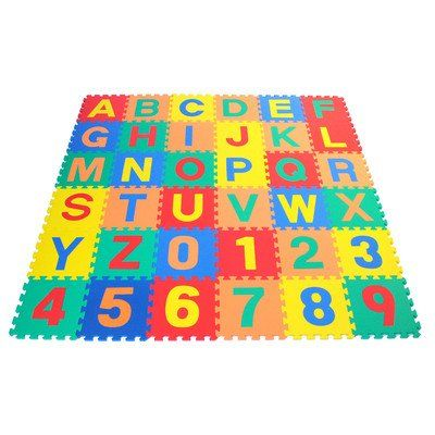 Wonder Mat Nontoxic Nonrecycled Alphabet Letters Counting Numbers Soft Foam Learning Waterproof Playmats Kids Playmat Soft Tiles Playmat
