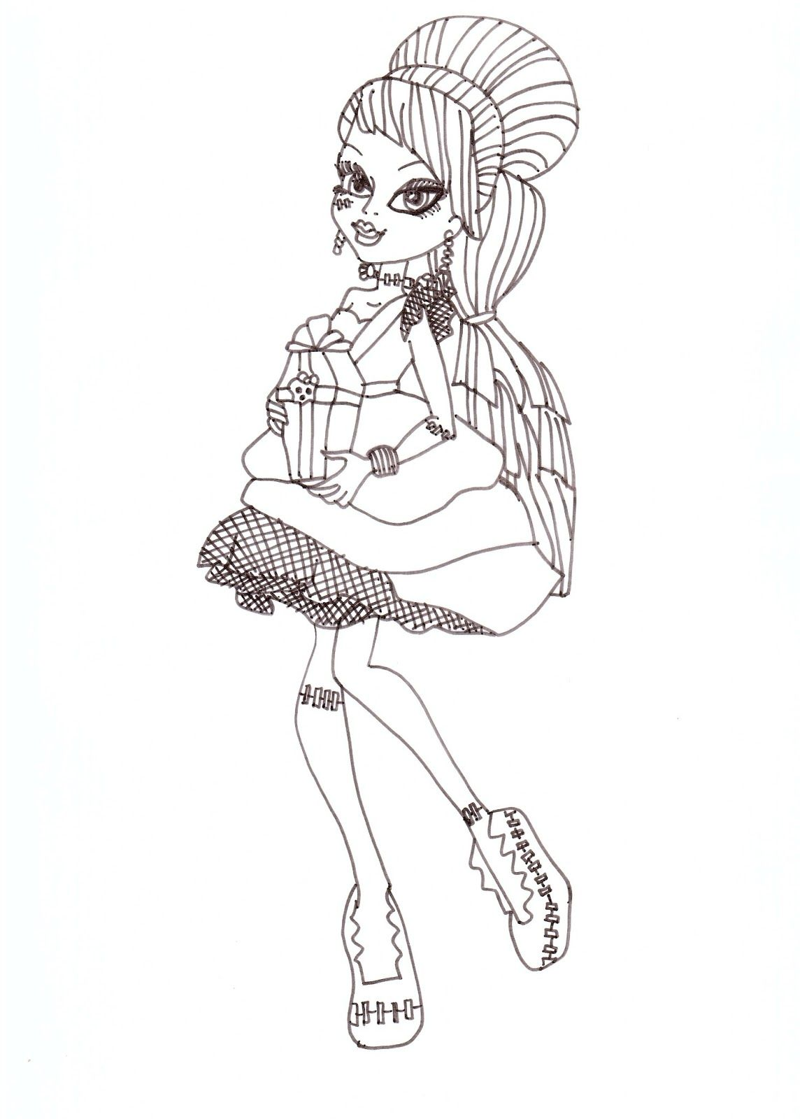baby monster high coloring pages monster high coloring pages frankie sweet