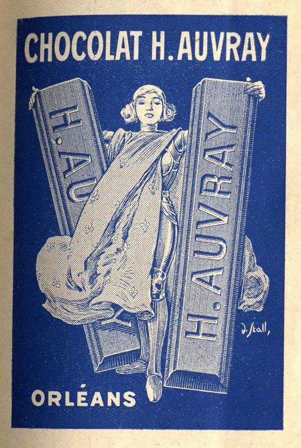 Chocolat H. Auvray. 1922. Publicité. Archives municipales d'Orléans. Annuaire du Loiret de 1922. http://archives.orleans.fr/article.php?laref=405&titre=chocolat-h-auvray