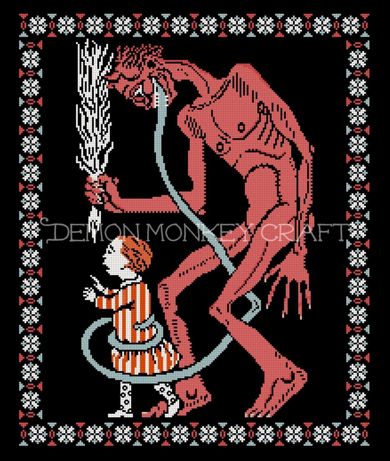 Pin On Demon Monkey Craft Patterns My Work Copyright