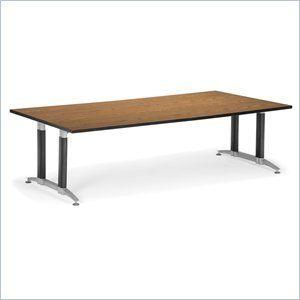 OFM KT4896MB EOAK Mesh Base Conference Table 48 X 96 Oak