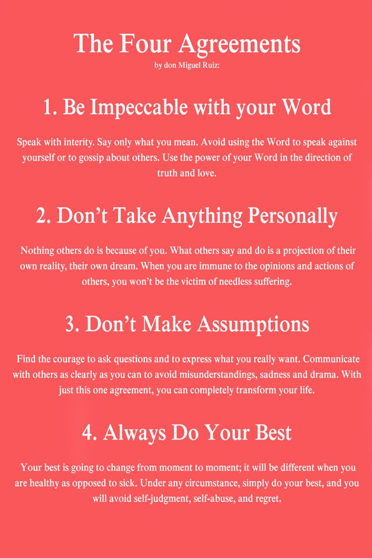 The Four Agreements Don Miguel Ruiz Inspiration