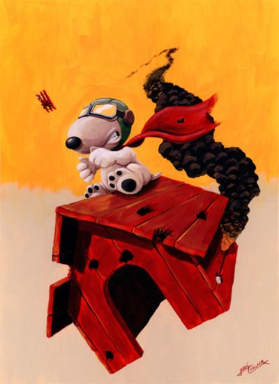 10,20,30, 40 - 50 or more.... Snoopy vs Red Baron