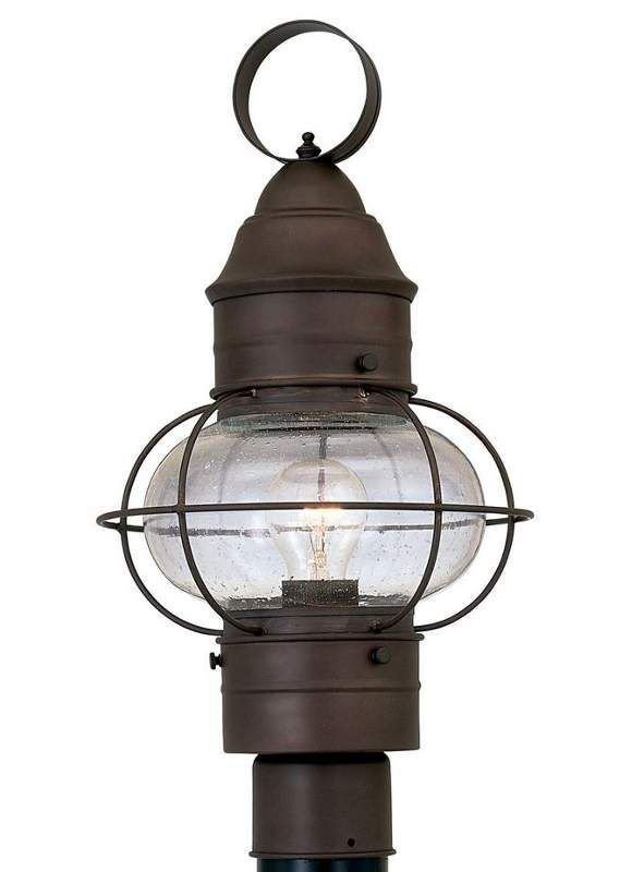 Designers Fountain 1766 Rt 1 Light 10 Onion Post Lantern From The Nantucket Col Rustique Outdoor Lighting Lights