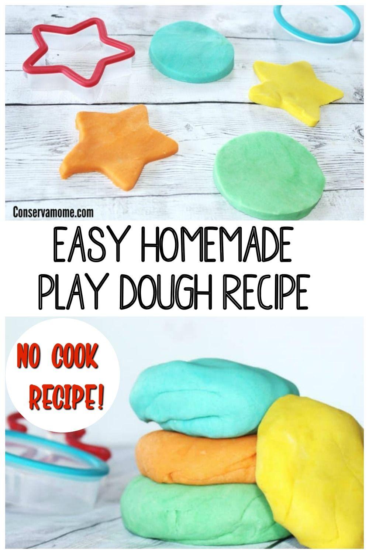 Easy Homemade Play Dough Recipe Non Toxic No Cook