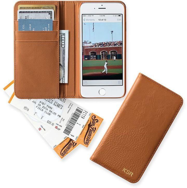 Pin for Later: 13 Timeless Personalized Tech Gifts Graham Leather Collection iPhone 6 Case Keep your phone and essentials together with the Graham Leather iPhone Case ($39). There are four card slots and a pocket for cash!
