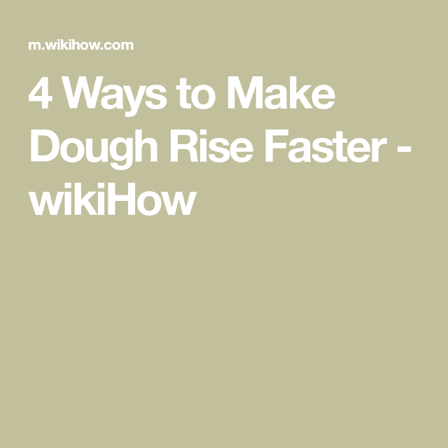 How To Get Frozen Bread Dough To Rise Faster