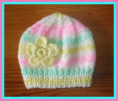Candystripe Knitted Baby Hats Baby Hats Knitting Baby Hat