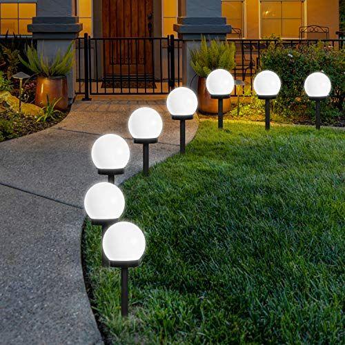Lampes Exterieure Solaires De Jardin Au Sol Flowood Exterieure Etanche Lumiere 8 Pack Ip44 Globe St Lampe Exterieur Eclairage Solaire Exterieur Lampes Solaires