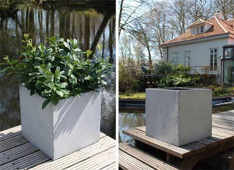 BLOCK Pflanzkübel Beton-Design | Pflanzkübel aus Fiberglas ...
