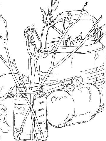 contour line examples art education pinterest drawings