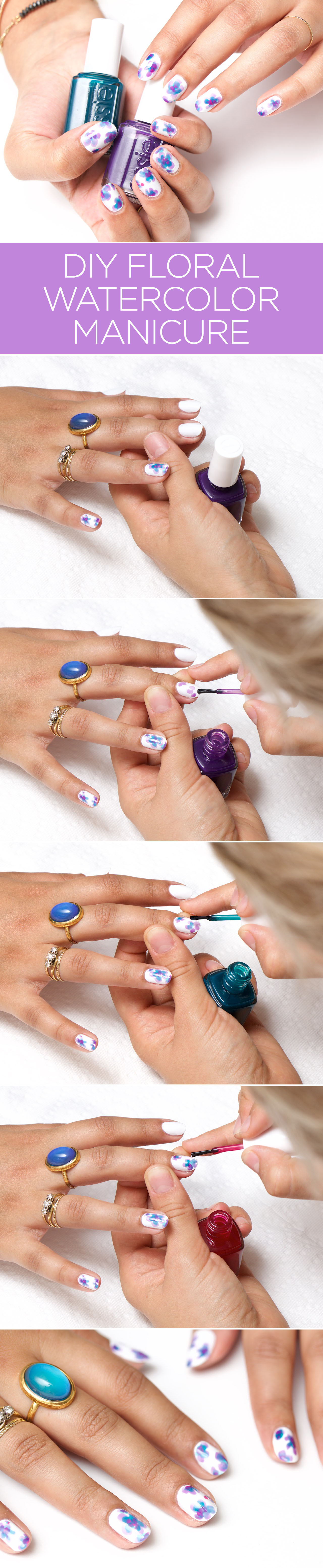 How-To: Floral Watercolor Nail Art