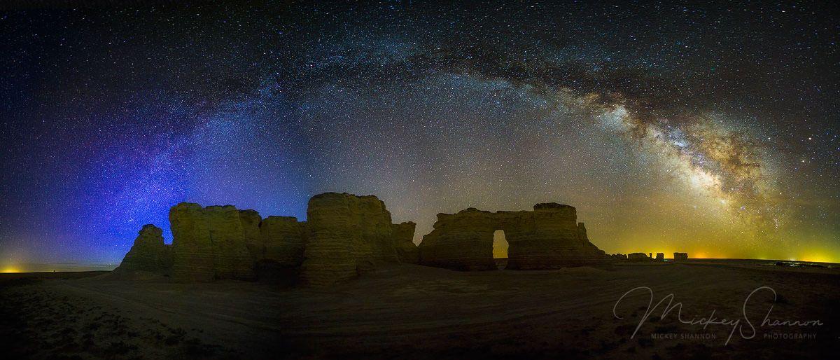 Monument Rocks Milky Way Monument Rocks Kansas Travel