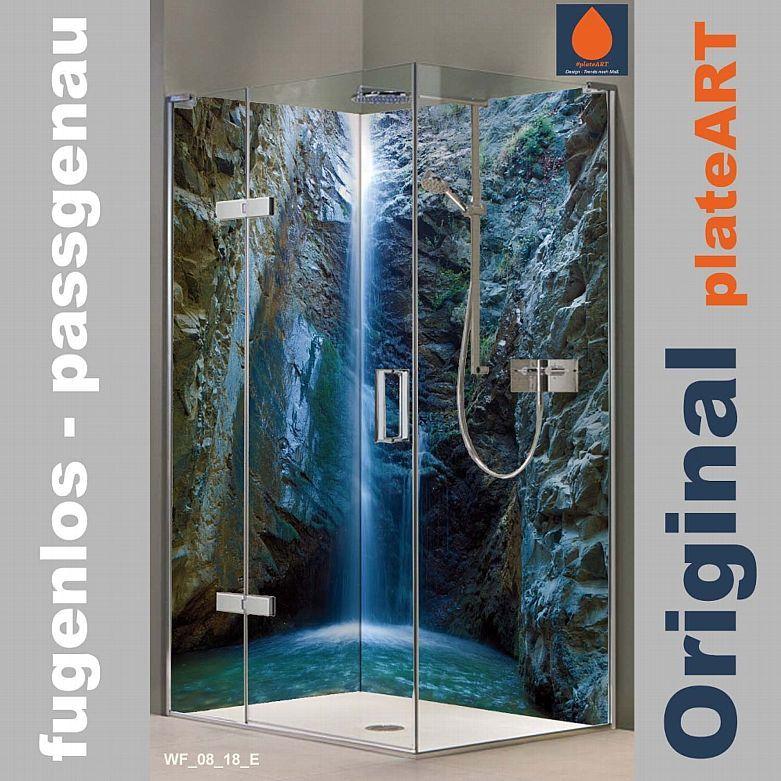 Eck Duschruckwand Ruckwand Dusche Alu Fliesenersatz Chantara Wasserfalle Kaufen Bei Hood De Duschruckwand Ruckwand Dusche