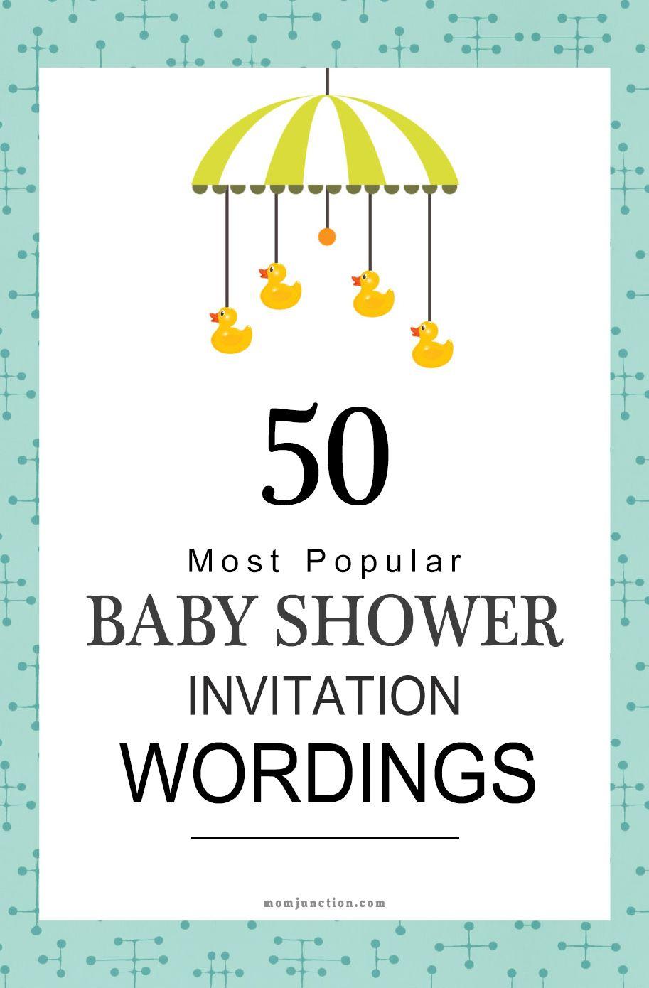 125 Baby Shower Invitation Wording Ideas Baby Shower Invitation Wording Baby Shower Invitation Message Sample Baby Shower Invitations