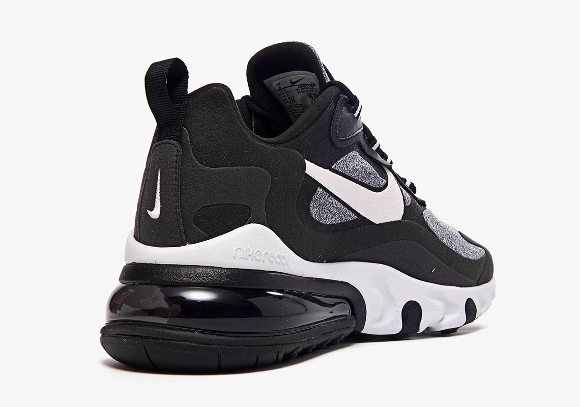 Nike Air Max 270 React Black Grey White AO4971 001 + AT6174
