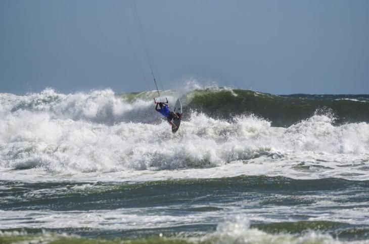 Brock Callen recently kite boarded 67 miles from the Vineyard to Block Island to raise awareness about the environment.