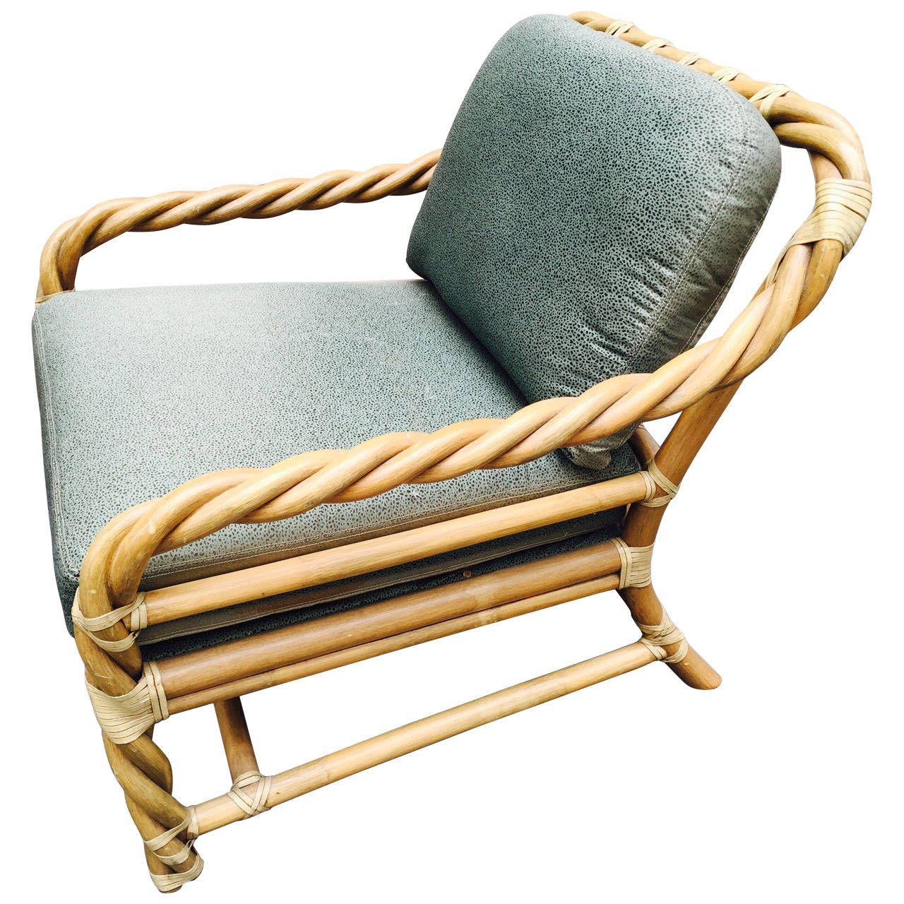 McGuire Twisted Rattan Mid Century Lounge Chair | See More Antique And  Modern Lounge Chairs At Https://www.1stdibs.com/furniture/seating/lounge  Chairs