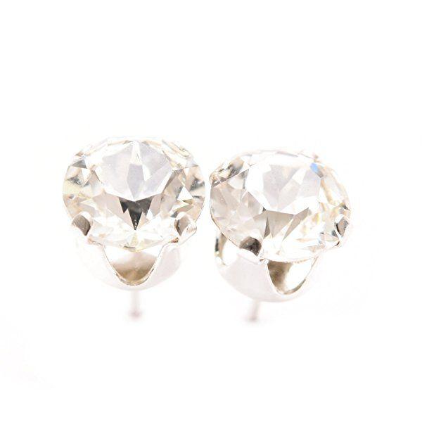 pewterhooter 925 Sterling Silver stud earrings handmade with sparkling Vintage Rose crystal from SWAROVSKI®. mTzw8XHfC