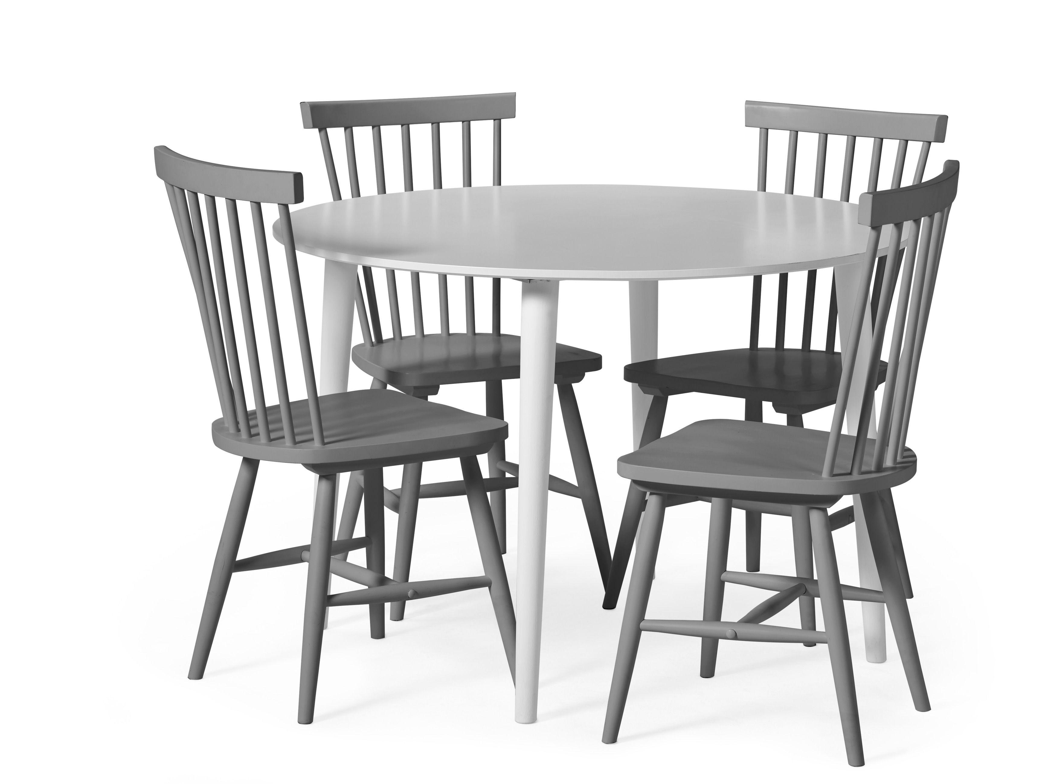 Plaine matbord med skiva i lättskött vitlack, inkl. Nils