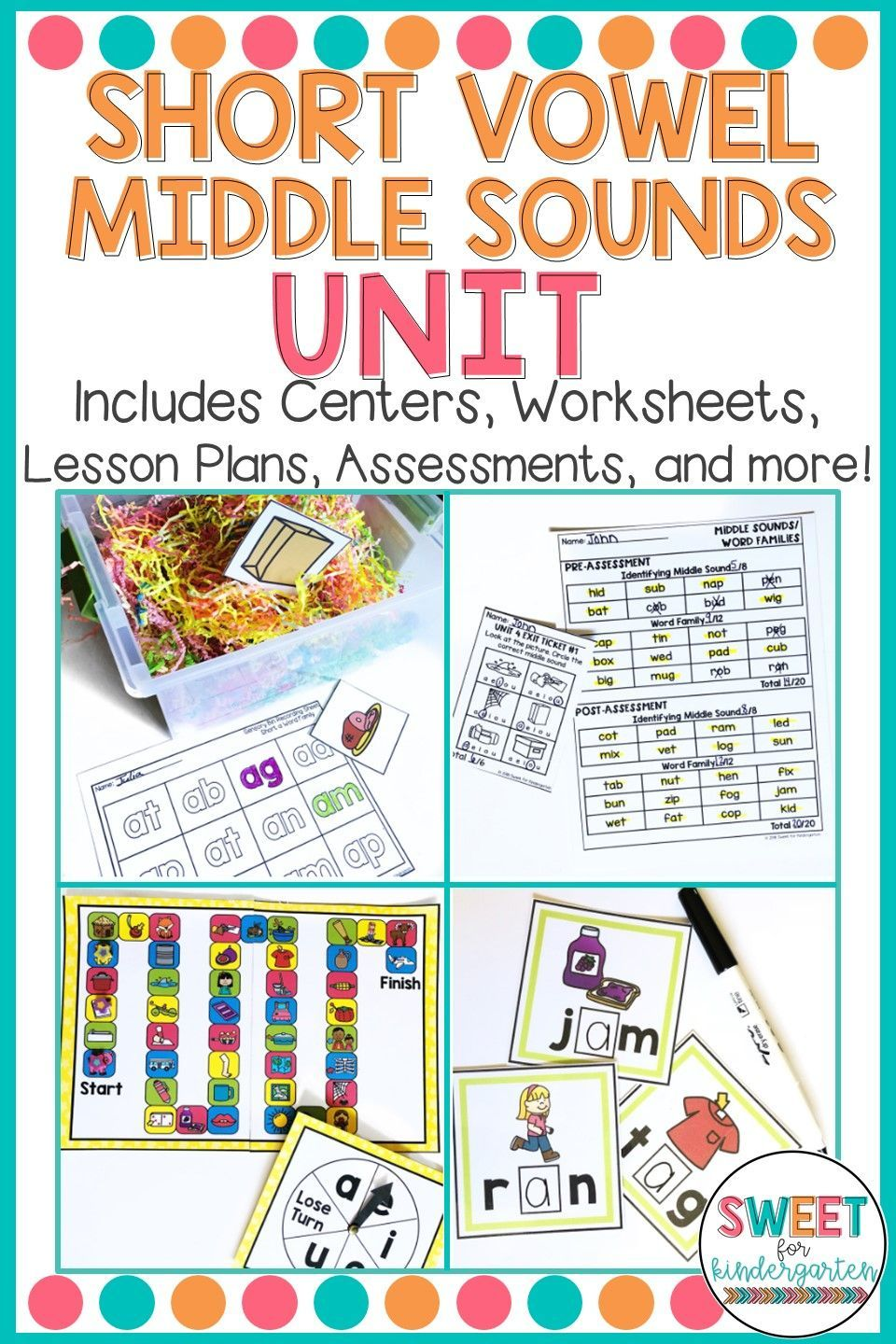 Kindergarten Phonics Short Vowels And Middle Sounds Unit Phonics Kindergarten Kindergarten Phonics Curriculum Middle Sounds [ 1440 x 960 Pixel ]