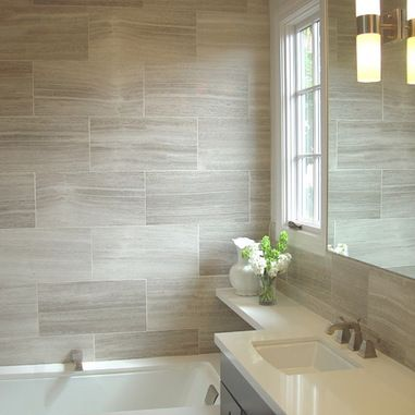 Calacatta Porcelain Tile Bath Design