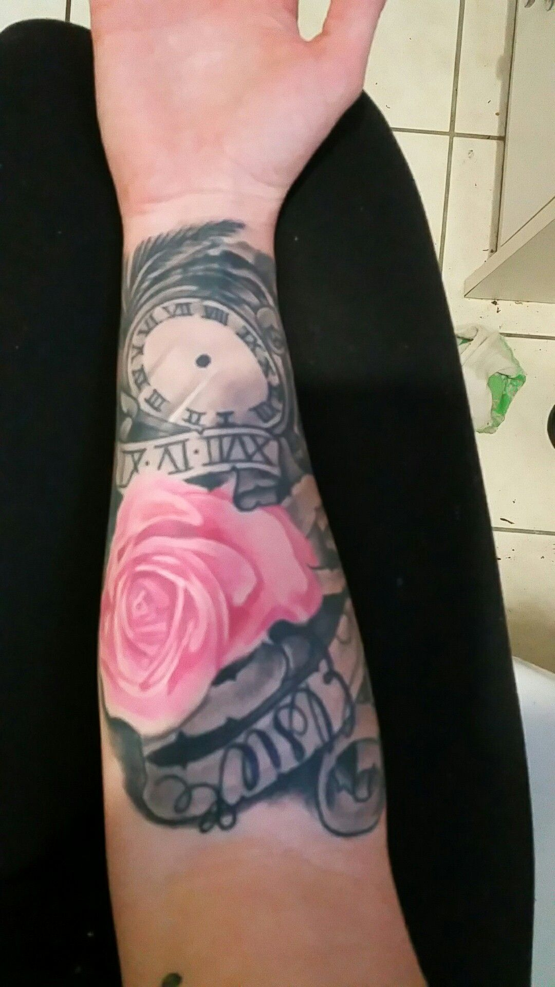 Cover up on my wrist tattoo for my daughter tattoo for Wrist tattoo covers for work