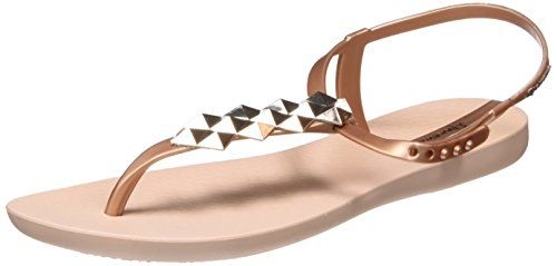 Bossa Soft Fem, Tongs Femme, Beige (Beige/Black), 37 EUIpanema