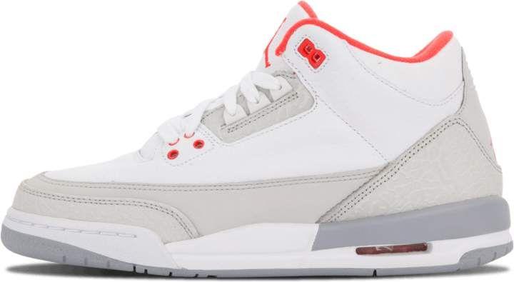 best cheap b3193 f7881 Girls Air Jordan 3 Retro GS White Crimson