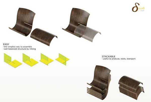 Dyad-Stackable-Lounger-by-Joo-Hongkyu-4 :: yoga mat turns rigid chair...