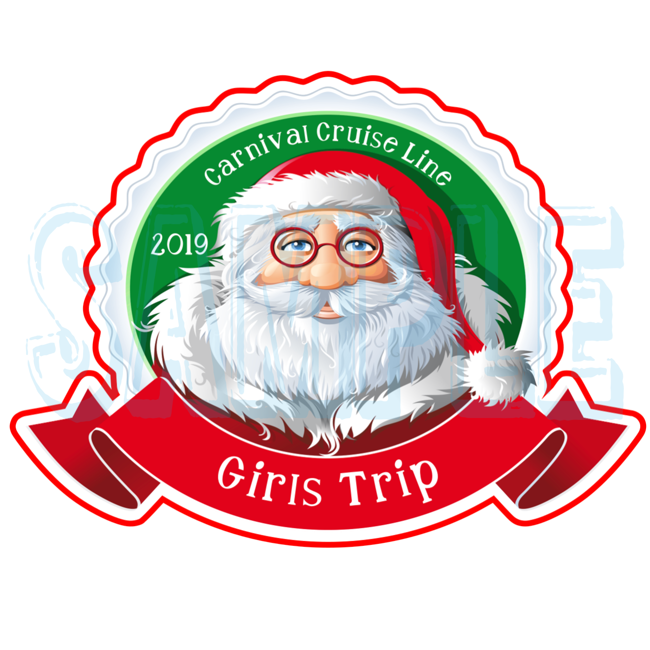 Celebrity Cruises Celebrity Christmas Santa Claus Magnet Norwegian Cruise Line Holland America Royal Caribbean Santa Magnet Princess Cruises Carnival Cruise Magnet