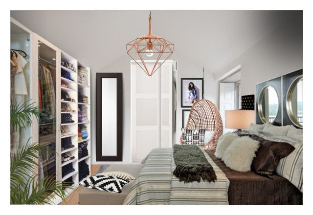 """""""Teen Bedroom"""" by tanyaf1 ❤ liked on Polyvore featuring interior, interiors, interior design, home, home decor, interior decorating, ESPRIT, Jayson Home and bedroom"""