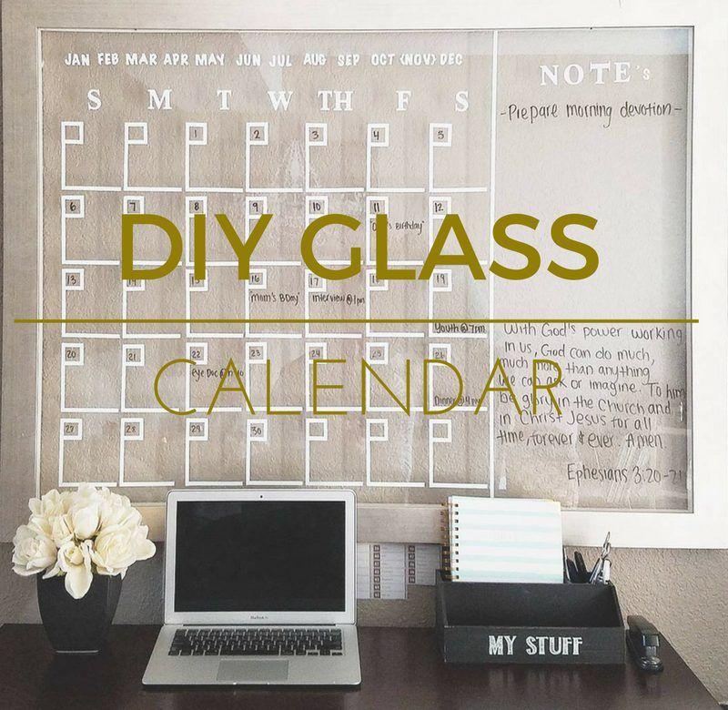 Diy Glass Calendar : Diy glass calendar budgeting and easy budget