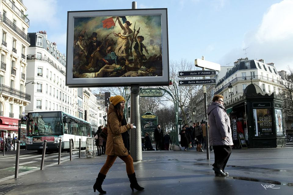 Paris Street Artist Replaces Advertisements With Classic Works Of Art Museums In Paris Street Artists Street Art