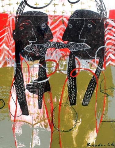 "Saatchi Art Artist Rusudan Khizanishvili; Painting, ""The Wings"" #art"