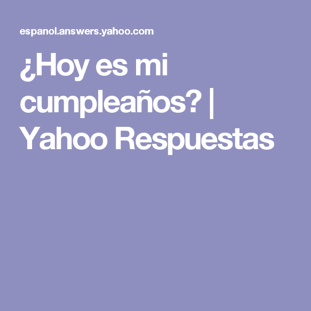 my.yahoo.com español