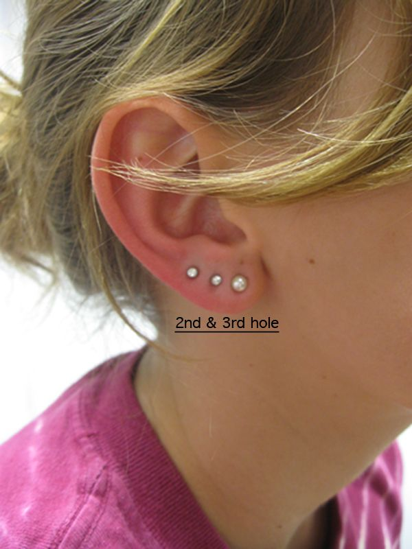 Triple Earlobe Piercing Tumblr 3 Ear Lobe