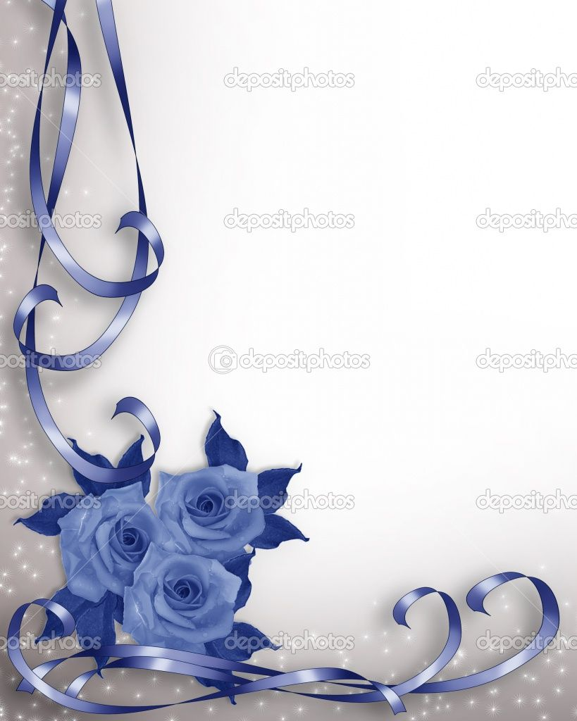 free wallpaper and boarders | Wedding invitation background blue ...