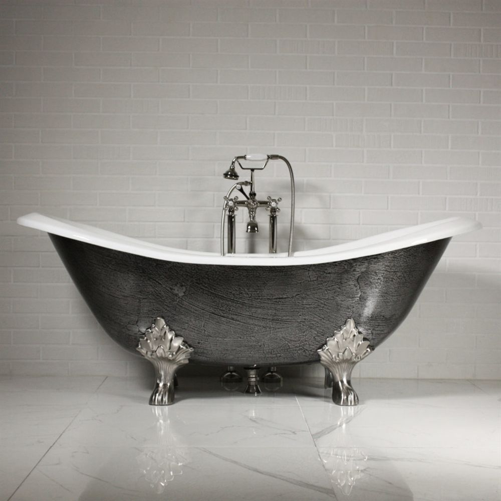 The Sibton 73 Quot Cast Iron Double Slipper Clawfoot Tub