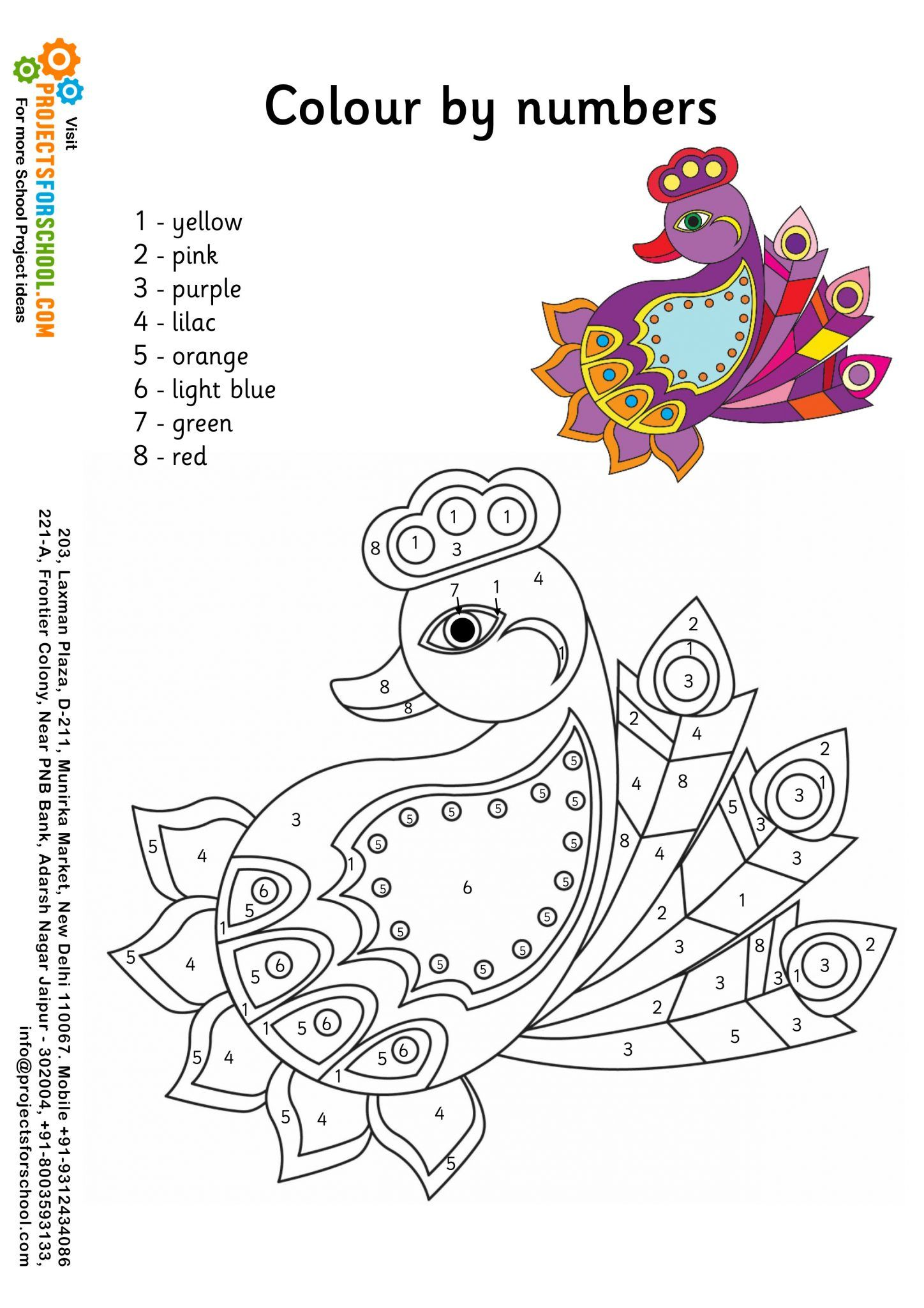 The coloring book project free download - Can The Kids Colour In This Pretty Rangoli Using The Correct Colours According To The Numbers
