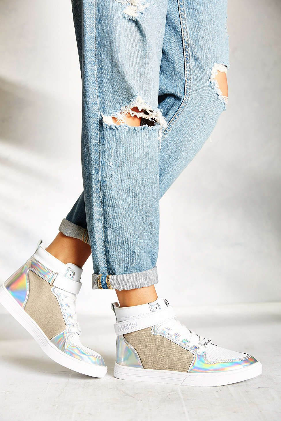 Eleven Paris Holo High Top Sneaker Artistry Urban Outfitters
