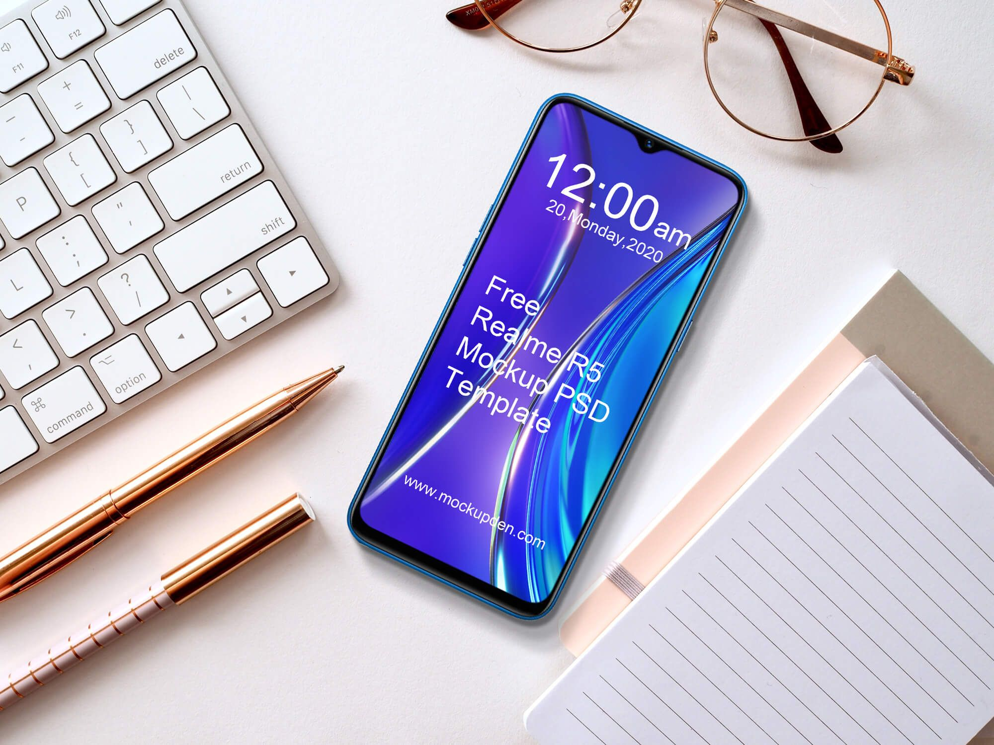 Free Realme R5 Phone Mockup PSD Template in 2020 Phone