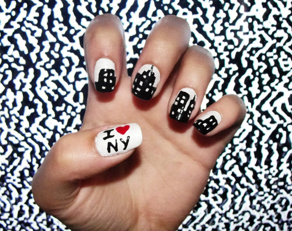 New York nail design | Nails | Pinterest