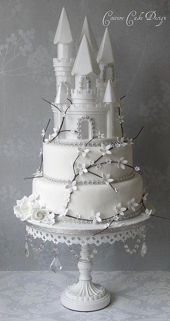 Amazing Winter Fairytale Castle Wedding Cake